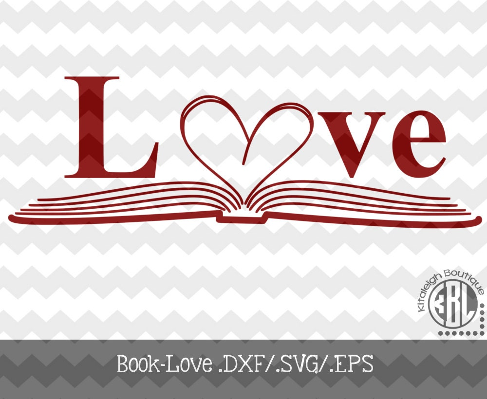Download Book-Love decal Files .DXF/.SVG/.EPS for use with your