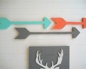 Nursery Arrows . Nursery Arrow Set .  Modern Nursery . Tribal Nursery . Boho Baby . Wooden Arrow . Boho Arrow . Adventure. New Bohemian