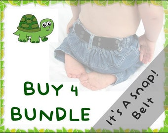 It's A Snap! Belt BUNDLE - Buy 4 & Save - elastic belts for toddlers to age 5+