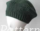 Knit Hat Pattern – Twirling Twill Beret – Pattern PDF - Instant Download - Adult One Size