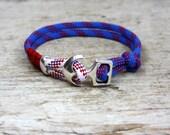 nautical bracelet...maritime cord...paracord bracelet...sailing rope bracelet...sail jewelry...anchor bracelet...