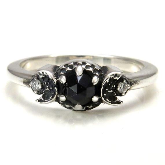 Celestial Engagement Ring New Moon Crescent By. Real Sapphire. Customised Engagement Rings. Hamsa Bracelet. Felt Bracelet. Three Band Diamond Ring. Ring Necklace. 22k Gold Jewellery. Popular Rings