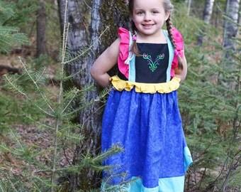 Anna Dress, Anna Play Dress, Frozen Anna Dress, Princess Anna Dress, Disney Princess, Princess Dress. Frozen Dress