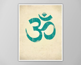 Om Symbol Print, Yoga Art Print, Yoga Decor, Aum Ohm Om Poster, Yoga Wall Art, Ohm Decor, Om Symbol Poster, Yoga Studio Poster, Om Art Print