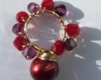Burgundy Pearl Dangle, Jewelry, Lilyb444,