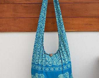Cotton Hippie Hobo Sling Crossbody Bag Messenger Purse