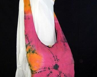 Tie Dye Bag Purse Buddha Hobo Hippie Sling Messenger Crossbody Classic OAK Long Strap Top Zip UC11