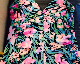 Make me an Offer! Retro floral swimsuit