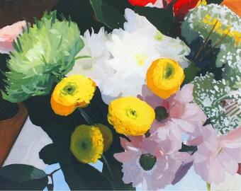 """8x10"""" flower print - """"Bouquet 3""""  - still life"""