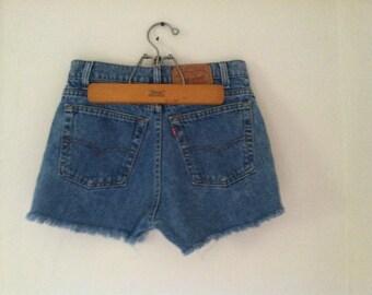 Vintage Levi's High Waisted sz 29 Cut off shorts *On Sale*