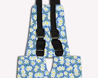 Blue Daisy Chicken Diaper