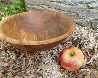 "Spalted Ash wood bowl large 13"" wood bowl salad bowl dough bowl rustic wood bowl Hand Turned Bowl"