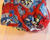 SassyCloth one size pocket diaper with Mickey captain cotton print. Made to order.