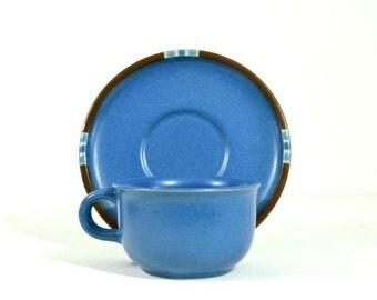 Vintage Dansk Mesa-Sky Blue Cup and Saucer