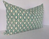 El Toro Aquamarine Pillow Cover in Fabric by Nate Berkus