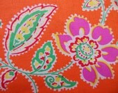 JENNY ELIZA * Gorgeous Orange and Pink Flowers * TANGERINE * Paisley * Floral * Pink Flowers