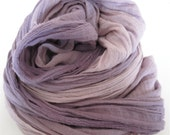 Organic Cotton Scarf Wrap Natural Dye Logwood Ombre Medium Size. Gift for her. Boyfriend gift.