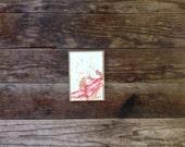 The Wise One - Original Wine Watercolor - Petite Syrah - 4inx6in