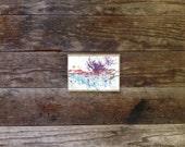 Escaping - Original Wine Watercolor - Malbec - 4inx6in