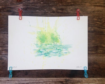 Just Beyond - Original Watercolor - 12inx18in