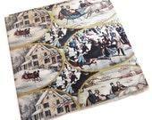 Vintage Wrapping Paper - Tis the Season - Seasonal Gift Wrap - One Full Sheet - Sleigh Ride Ice Skating