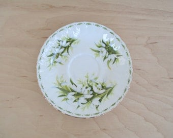 Royal Albert teacup saucer Snowdrops White Flowers