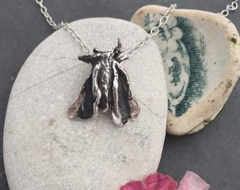 Moth Necklace sterling silver 'Suki'