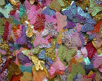 60 ea. 20mm loose Butterfly Sequin Paillettes, assorted colors