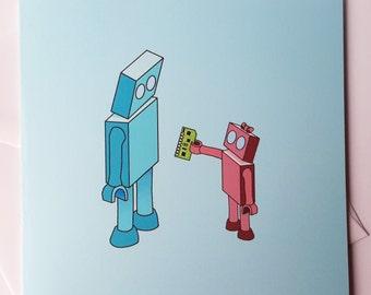 Father's Day Robot Card - Boy/Girl Robot