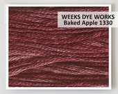 BAKED APPLE 1330  Weeks Dye Works WDW hand-dyed embroidery floss cross stitch thread at thecottageneedle.com