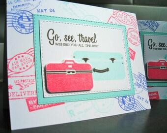 Retirement Card, Graduation Card, Bon Voyage Card, Gift for Traveler, Travel Gift, Farewell Card
