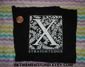 X is for STRAIGHTEDGE patch
