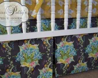 Crib Bedding- Crib Sheet and Crib Skirt -Baby Bedding-  Design Your Own Crib Sheet and Skirt