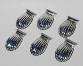 Vintage Aluminum Set of Six Vintage Madeleine Individual Pans