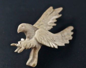 Alaskan Antler Eagle Brooch No.001829