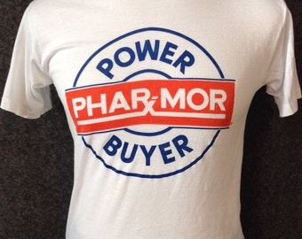 Vintage PharMor power buyer t shirt USA M