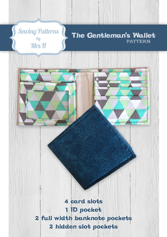 The Gentleman S Wallet Pdf Sewing Pattern By Mrs H