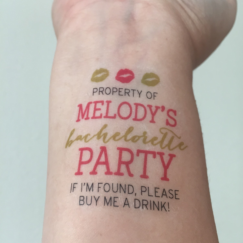 10 bachelorette tattoos team bride custom for Bachelorette party tattoos