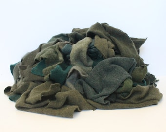 Recycled Cashmere Remnants - Deep Green 16oz