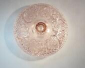 Pink Vintage Glass Heart Design Dish