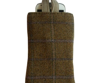 Tweed Phone Cover / Case / Purple / Green / Check
