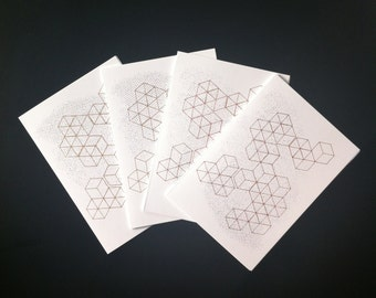 Geometric Greeting Gocco Card