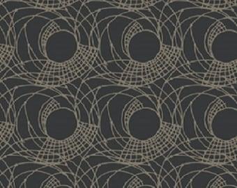 "Fabric 1 Yard Home Decorating Curious Nature UPWARD SPIRAL Royalty Grey David Butler 54"" WIDE"