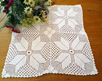Vintage Large Doily White Centrepiece Doilies Crocheted Doilys  B221
