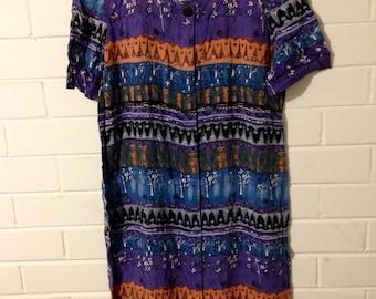 Patterned 80's dress