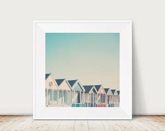 beach photograph beach hut photograph mint home decor architecture print seaside photograph beach house decor english decor