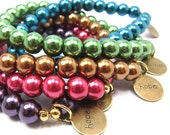 "Jewel Tone Stretch Bracelet, Assorted Colors, Fundraiser ""Pearls of Hope for Haiti"""