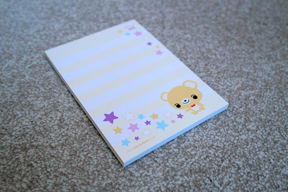 Make a Wish Teddy Memo Pad