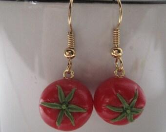 Tomato Dangle Earrings