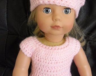 Crochet pattern for trouser suit and hat set for 18 inch American Girl Gotz doll